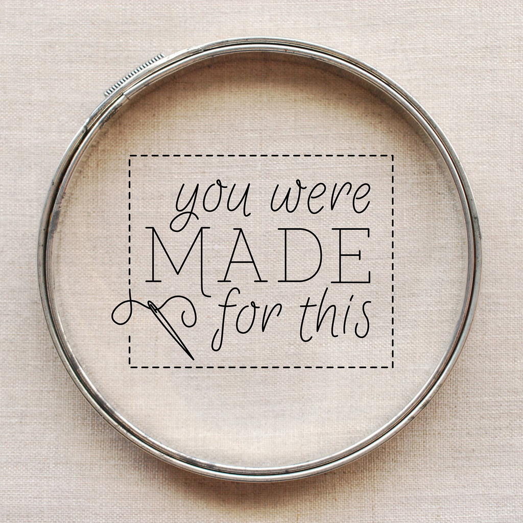 You Were Made For This // embroidery pattern