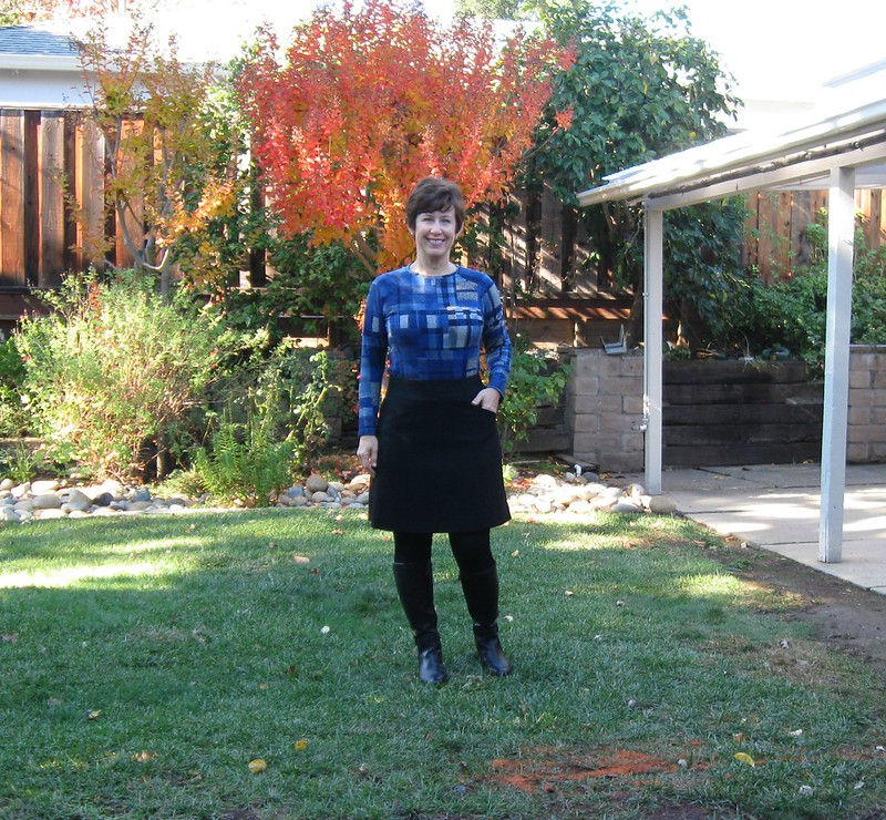 black skirt on me