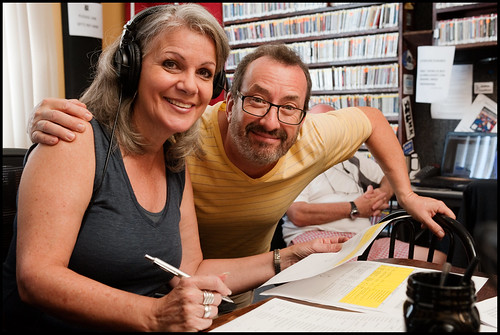 Sally Young with Ron Phillips at WWOZ Fall Pledge Drive 2015 day 3. Photo by Ryan Hodgson-Rigsbee - www.rhrphoto.com