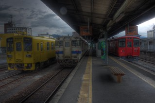 Trains at Hita Station on OCT 27, 2015 (5)