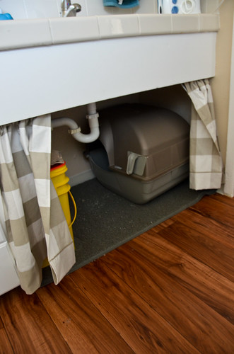 Curtains for under the bathroom counters