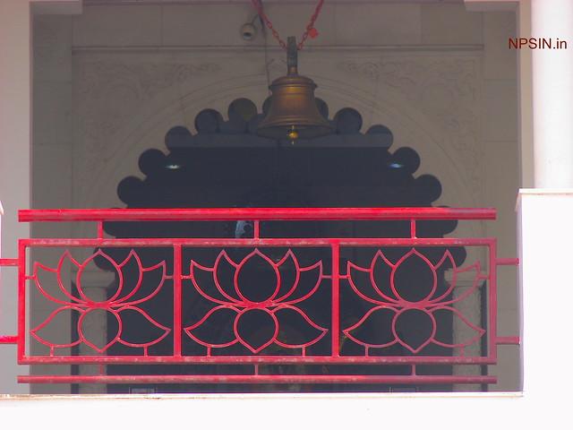 Closeup of Maa Kali Dham on first floor