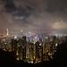 Hong Kong at night by kerto.co.uk