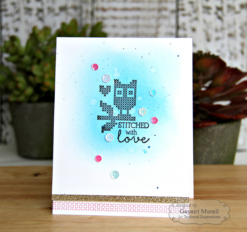 Stitched with Love card