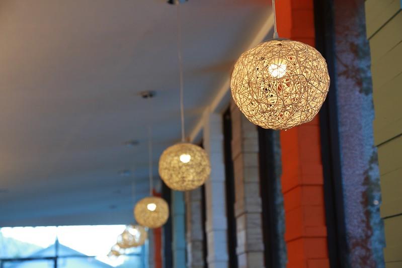 餐廳裡的燈飾