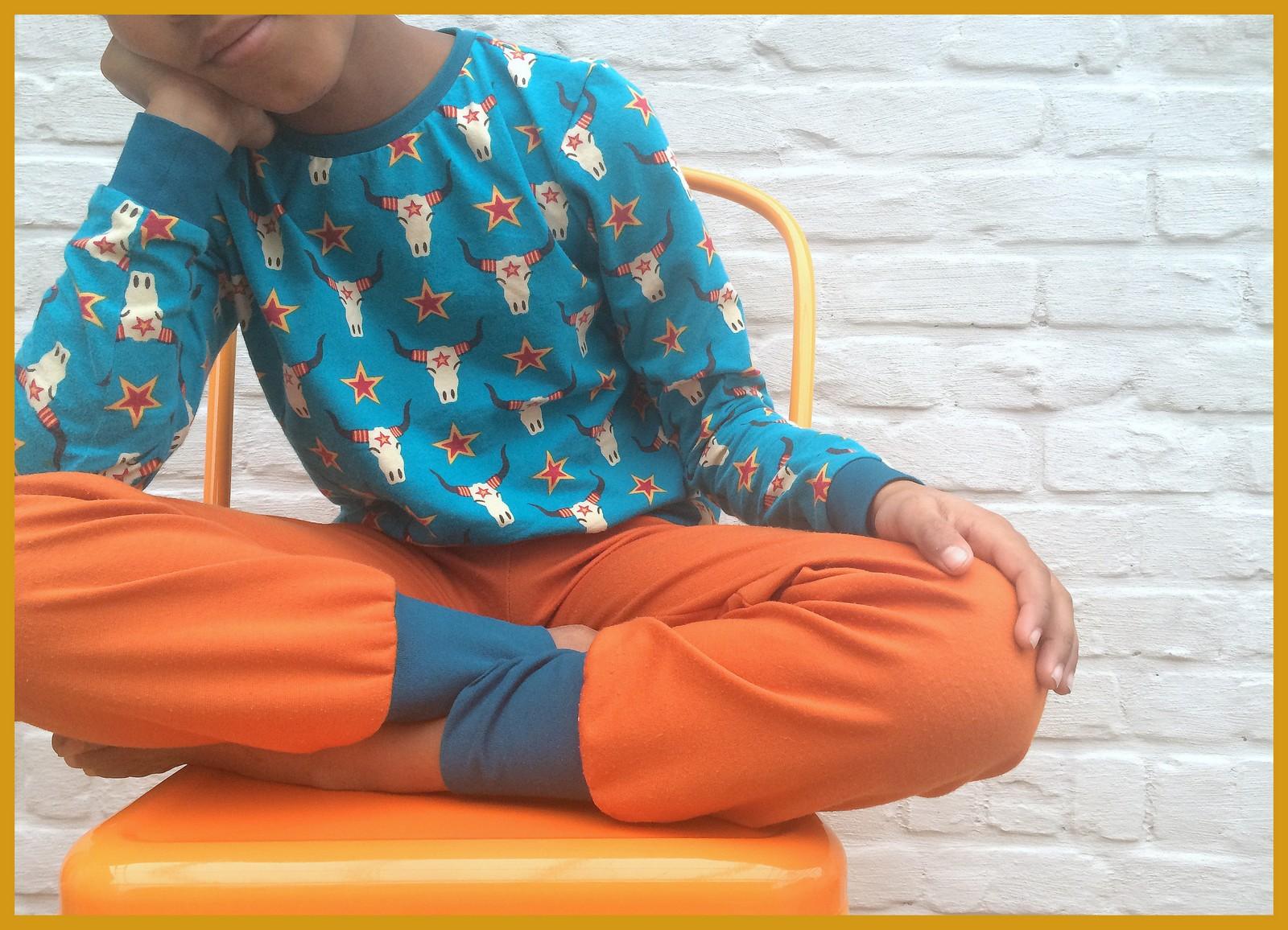 lillestof pyjama - bovenstuk billie zonen 09 - losse broek SVDHZ2
