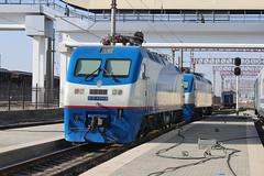 Uzbek engines at Buxoro train station