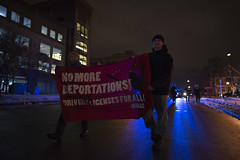 Marching in solidarity with immigrants and against Donald Trump
