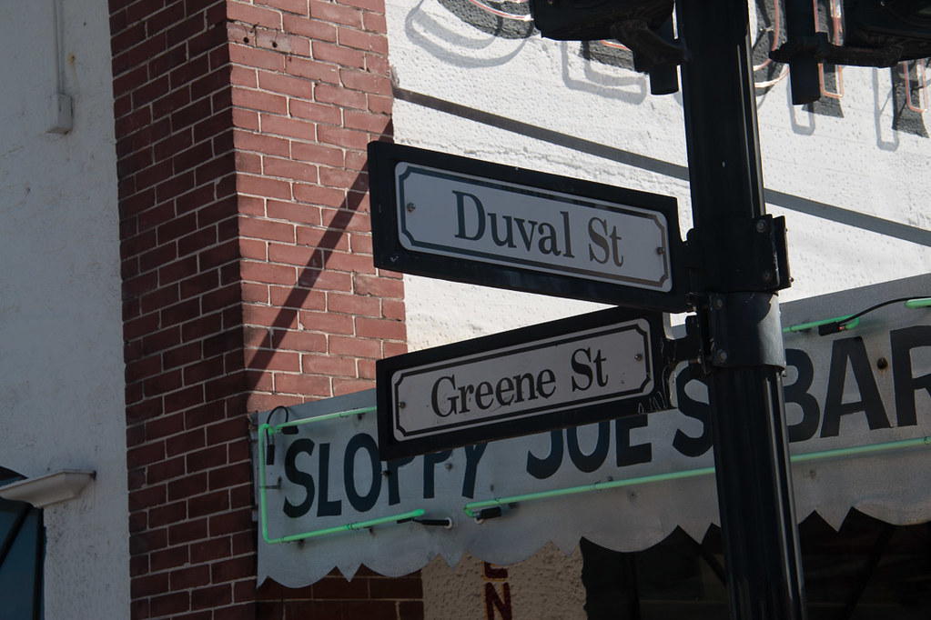 Duval and Greene Street in Key West