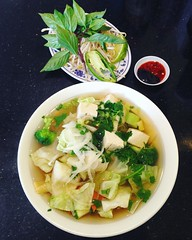 Veggie and Tofu Pho for a late mellow lunch... if you're in the mood for A LOT of noodles, Pho La Jolla is your spot!   #vegan #vegansofig #veganinsandiego #vegansandiego #veganfood #veganfoodporn #veganfoodshare #whatveganseat #veganpho #pho #pholajolla