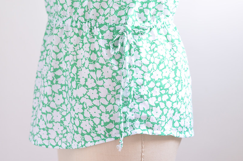 Green Floral Handmade Top 3