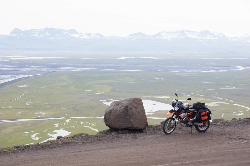 On top of the first gravel