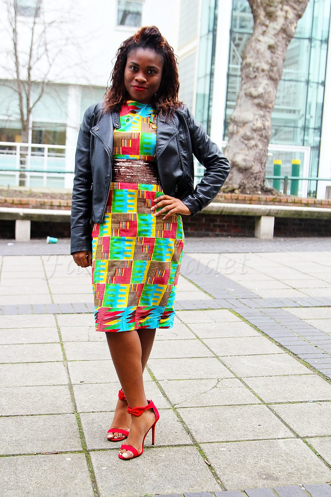 kente-ghanian-dress, African print dress to wear to a wedding,  chitenge dress to wear to a wedding,  African print dresses designs, ankara print dresses designs, African print dresses, kitenge designs, ankara designs, chitenge designs, kitenge office wear, chitenge office wear, ankara office wear, Africa print office wear, kitenge dress for dinner date, ankara dress for dinner date, chitenge dress for dinner date,African print dress for dinner date, kitenge style, chitenge style, ankara style, African print style,, latest ankara dresses, latest African print dresses, kitenge fashion, ankara fashion, Nigeria kitenge fashion, ankara kitenge fashion, printed dress, dresses with biker jackets, how to wear a dress with biker jacket, how to style a dress with a biker jacket, biker chic, motorbike jacket, fashion, style, trends, Africa in fashion, tradition dress, African traditional dress, Ghana traditional fabric, Ghana traditional dress, how to style a biker jacket, how to wear a biker jacket, how to wear red heels, how to style red heels, cute African print dresses for ladies, kitenge dresses for ladies,