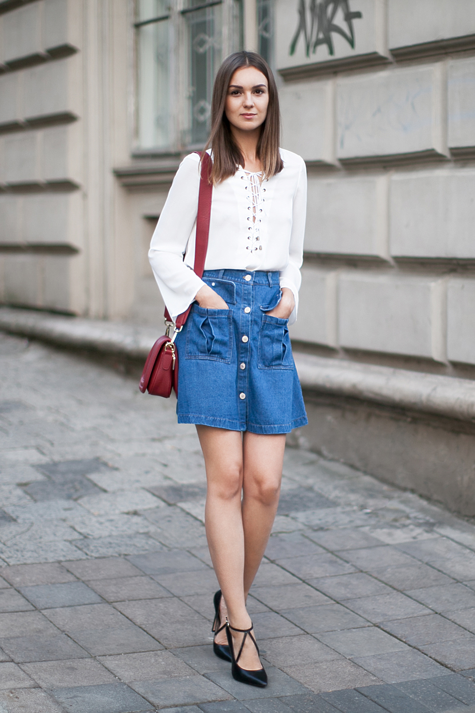denim skirt fashion agony daily fashion
