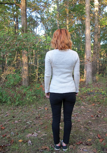 White Graphite Sweater - back