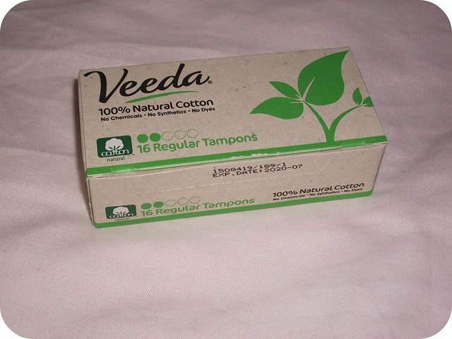 Veeda 100 Natural Cotton Tampons