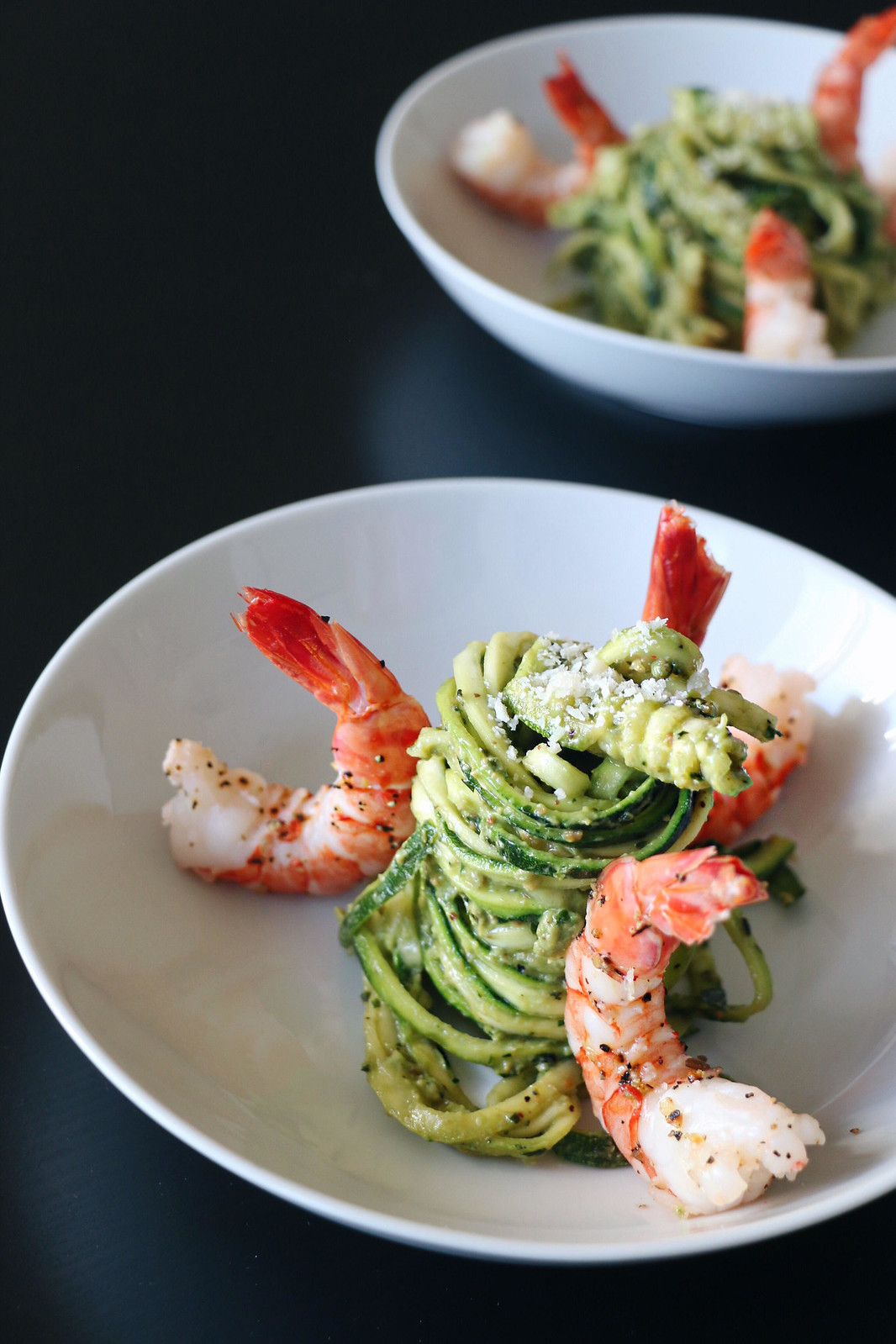 kale pesto zoodles with prawns 5