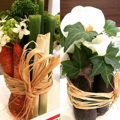 "creative ""foodie"" flower arrangements at the dentist♡  #osaka #japan #flowerarrangement"
