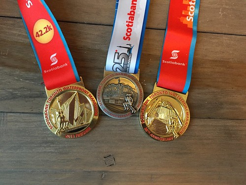 Mei's STWM medals from 2013, 2014 and 2015