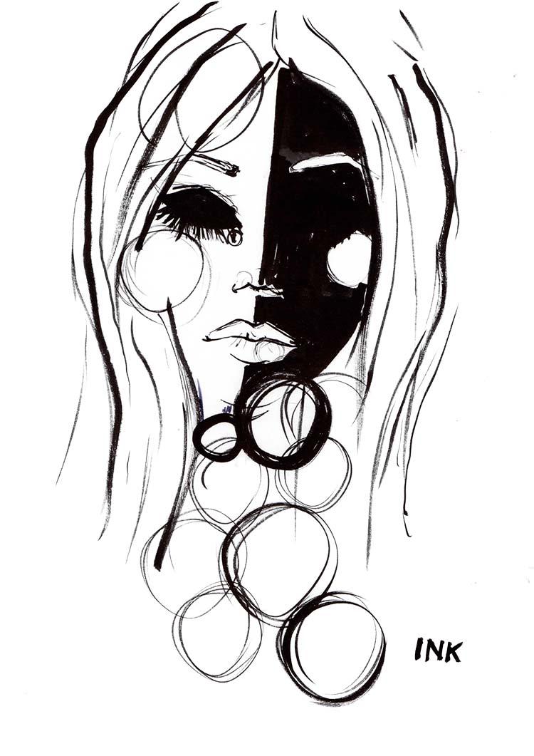 Hermine on Walk Zeichnungen