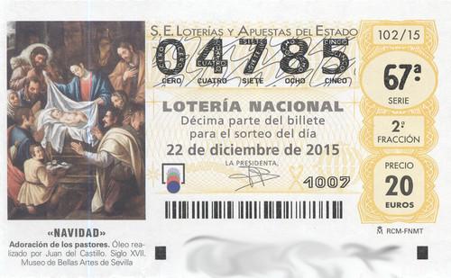 Lotería Navidad 2015