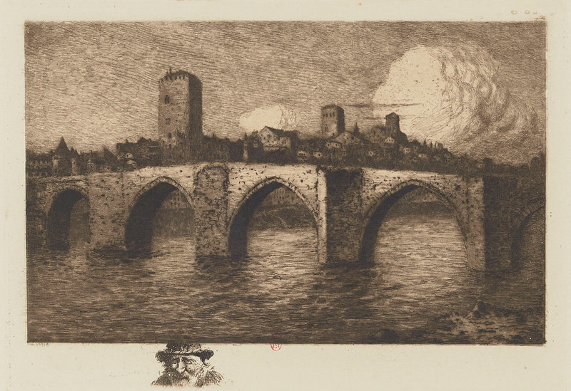 Eugene Viala - Old Bridge of Cahors, 1880-1913