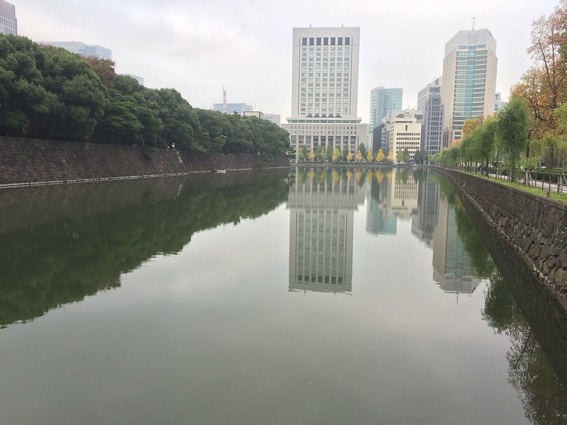 The canal surround the Imperial Palace.