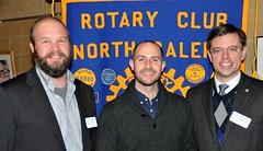 L-R: Mike Wienold, Matt Tomasulu and Club President Chris Morden.