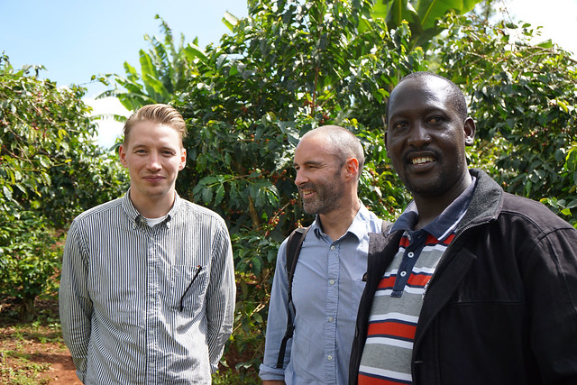 Lukas from our shop in Torvehallern, Nicolas Clerc from Telescope in Paris and Charles Mwai from Kieni