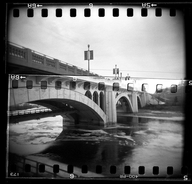 70mm Holga - Centre Street Bridge