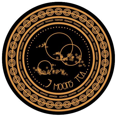 Three Moons Tea lid label