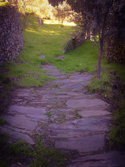 Stone footpath at Quinta da Corga