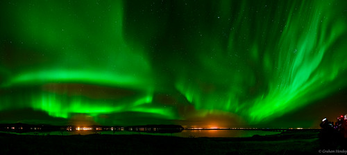 "Iceland Aurora Pano ""The Big Green Edit"""