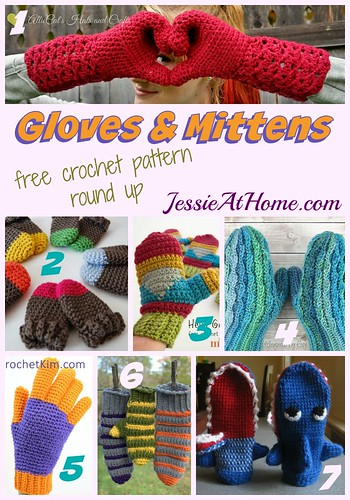 Gloves And Mittens Free Crochet Pattern Round Up Jessie At Home