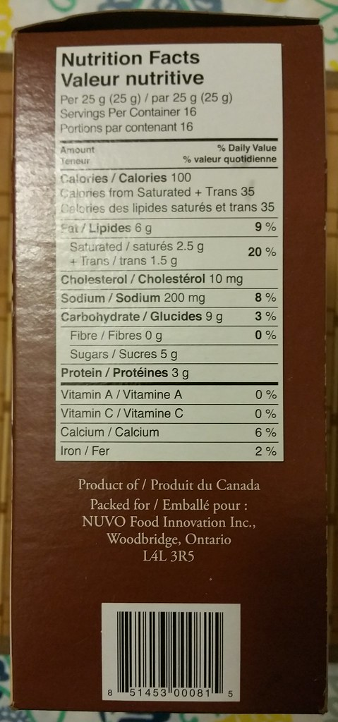 Brie-Osh nutrition facts