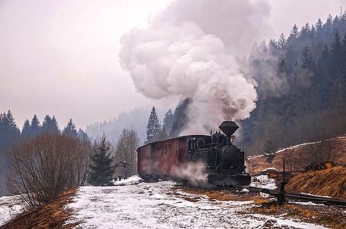 train treni bahn zug dampf steam vapore čhž u45 čierny balog slovacchia