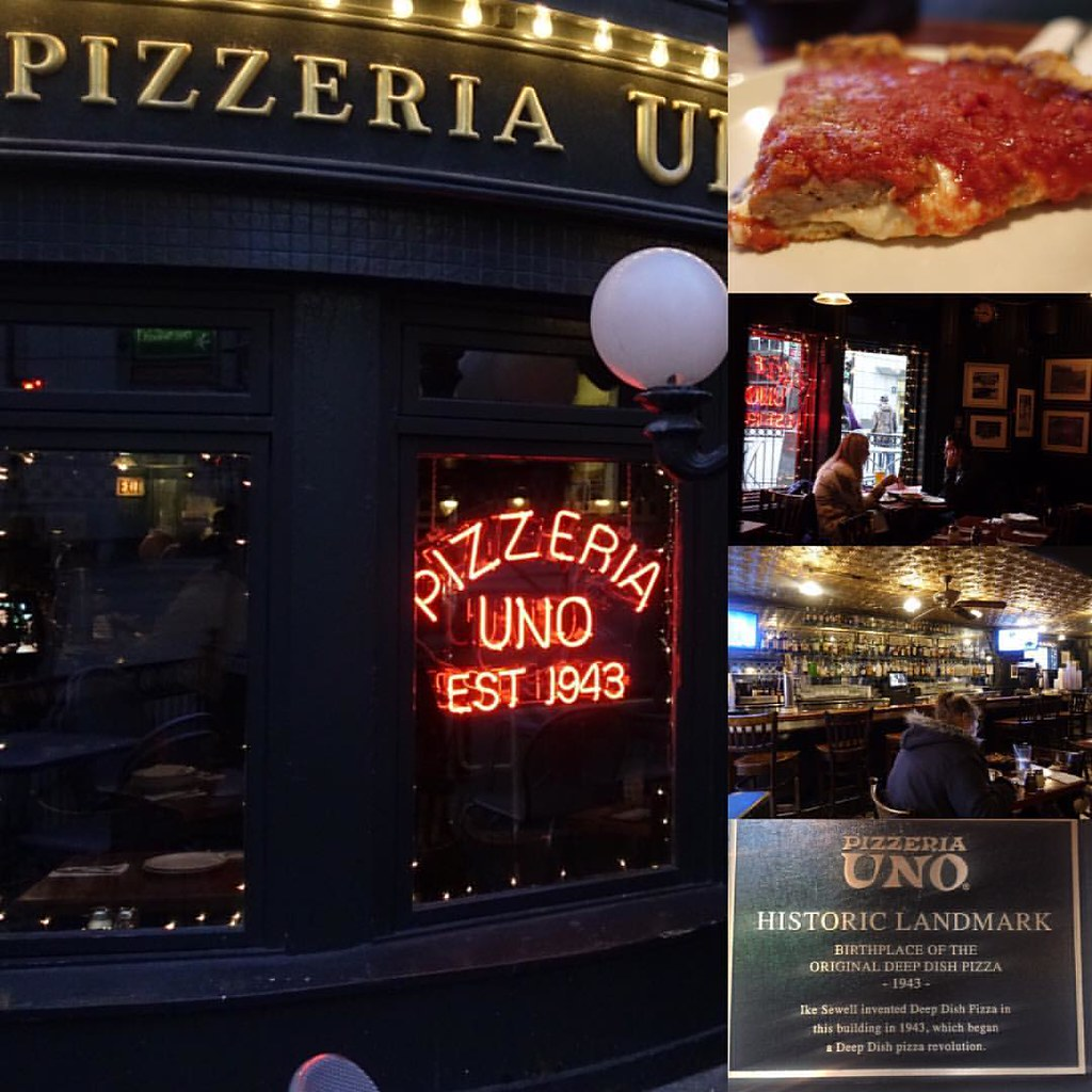 Yesterday was my 4th deep dish of the week this time at for Pizzeria uno chicago