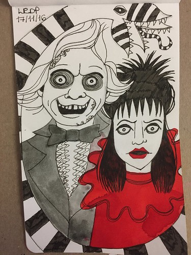 39 Inktober 2016 -Beetlejuice and Lydia