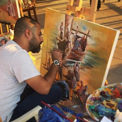 Painting competition at the Katara Dhow Festival last week. #latergram #dhowfestival #dhow