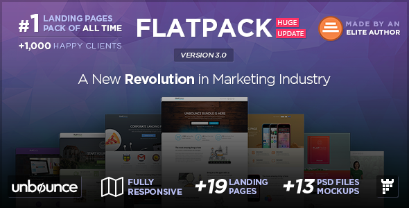 20 Themeforest Unbounce Template Pack