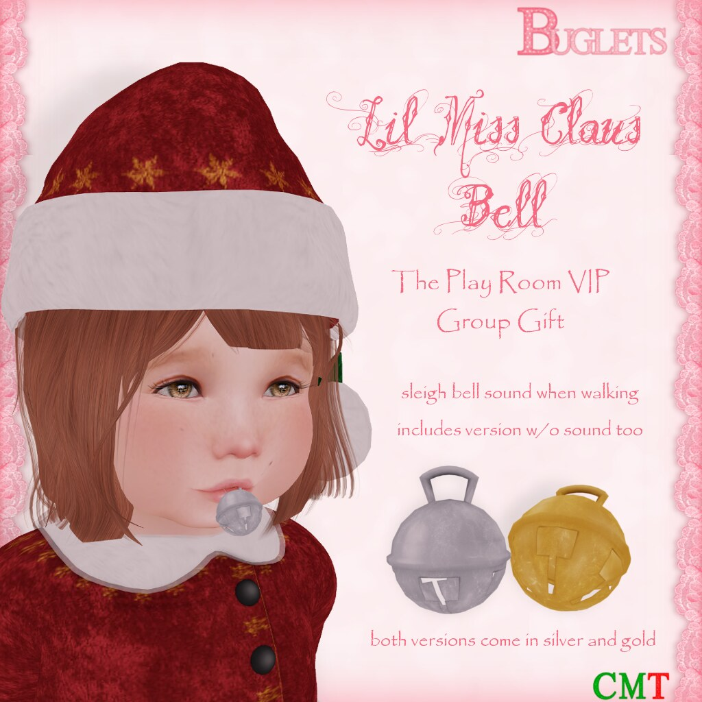 Lil Miss Claus Bell VIP Gift AD - SecondLifeHub.com