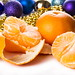 tangerines with Christmas decorations by mikhafff1984