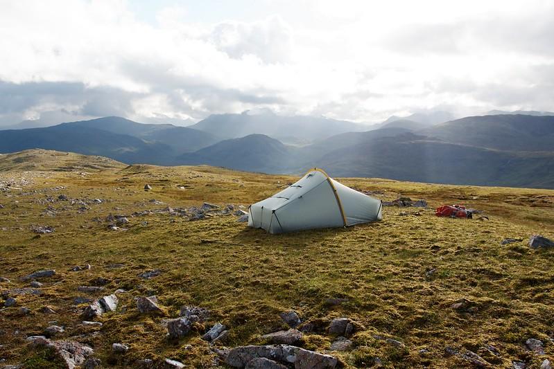 Wild camping on Garbh-bheinn