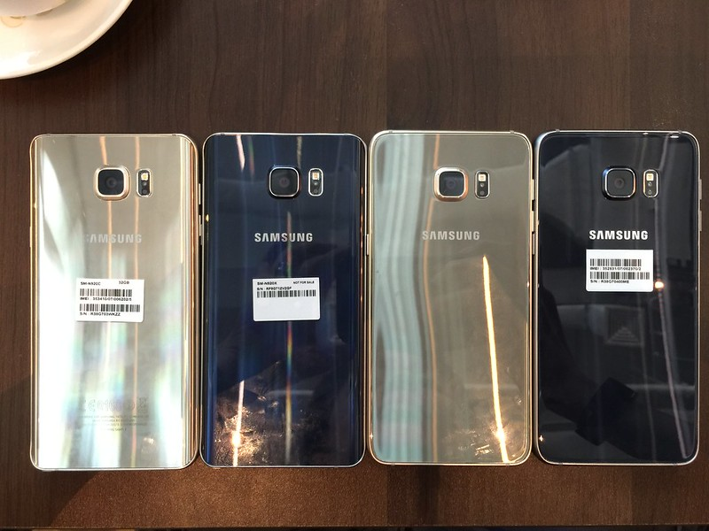 Samsung Galaxy Note 5 & S6 edge+ - Black Sapphire & Gold Platinum (Back)