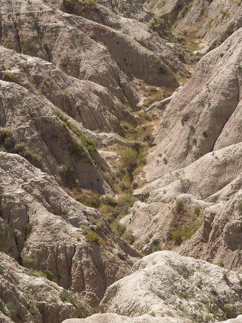 Badland crags