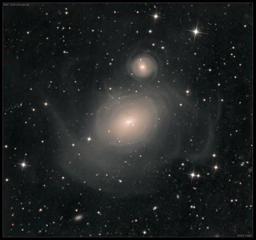 VCSE - Mai kép - NGC 1316 – galaxisütközés után