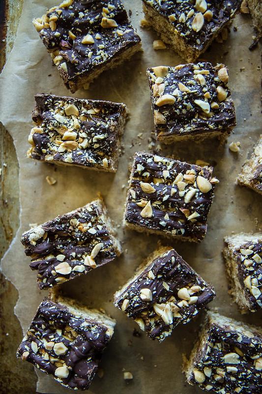 Honey Roasted Peanut Chocolate Cheerios Bars