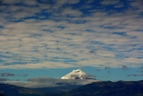 morning sky mountain clouds sunrise volcano valley andes cotopaxi nevado