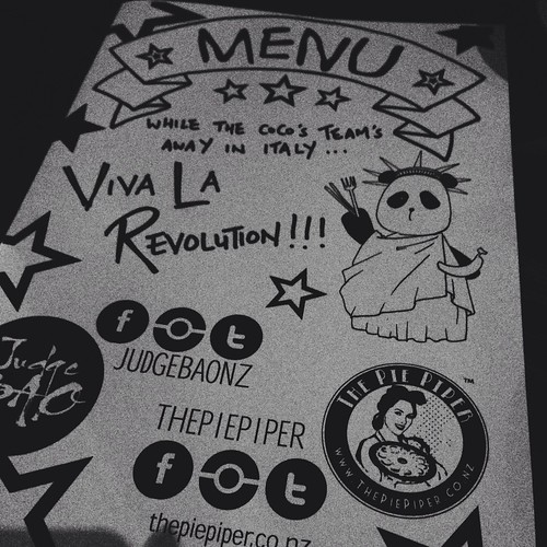 Auckland Food blog Viva La Revolution Menu