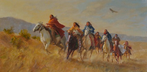 Cheyenne Scouts Returning Home